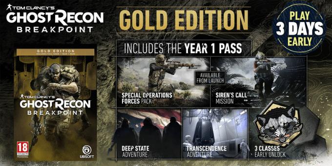 خرید سی دی کی Tom Clancy's Ghost Recon Breakpoint اسکرین شات Gold Edition