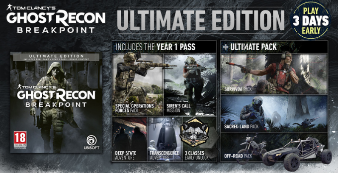 خرید سی دی کی Tom Clancy's Ghost Recon Breakpoint اسکرین شات Ultimate Edition