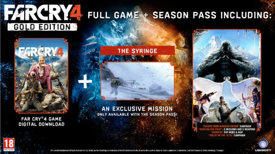 خرید سی دی کی Far Cry 4 Gold Edition