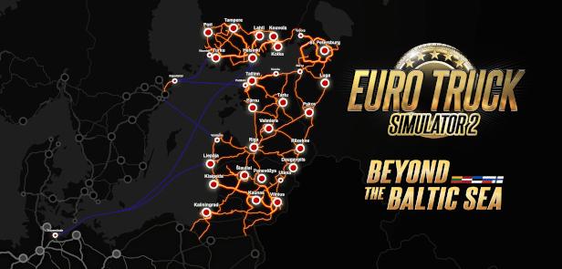 خرید Euro Truck Simulator 2 - Beyond the Baltic Sea استیم گیفت اسکرین شات 1