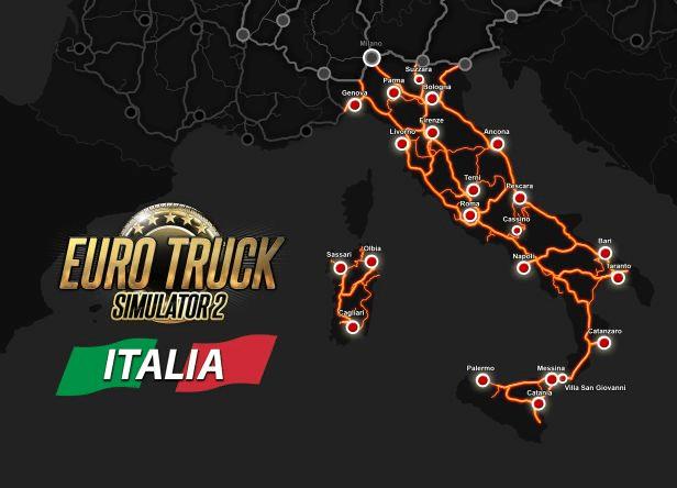 خرید بازی Euro Truck Simulator 2 - Italia استیم گیفت اسکرین شات 1